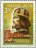 [The 1000th Anniversary of the Birth of King Stephan I, 970-1038, Typ CPF]