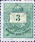 [Kingdom of Hungary; Definitive Issue - Coloured Values, Not Watermarked. See also No.21-25, type D1]