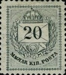 [As Number 15-19, Watermarked. K in WM 13 mm High, type D10]