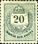 [Kingdom of Hungary; Definitive Issue - Coloured Values, Not Watermarked. See also No.21-25, type D4]