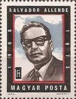 [The Anniversary of the Death of Salvador Allende, 1908-1973, Typ DCE]
