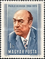 [The 70th Anniversary of the Birth of Pablo Neruda, 1904-1973, Typ DDT]
