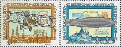 [International Airmail Stamp Exhibition, AEROFILA `74, Budapest, type DEA]