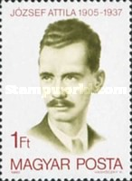 [The 75th Anniversary of the Birth of Attila Jozsef, 1905-1937, Typ DUY]
