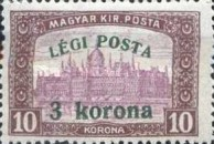 [Airmail - Parliament Stamp of 1917 Surcharged, type FK]