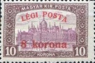 [Airmail - Parliament Stamp of 1917 Surcharged, type FK1]