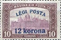 [Airmail - Parliament Stamp of 1917 Surcharged, type FK2]