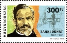 [The 150th Anniversary of the Birth of Donát Bánki, 1859-1922, Typ GRI]