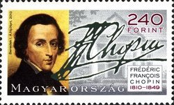 [The 200th Anniversary of the Birth of Frederic Chopin, 1810-1849, Typ GVZ]