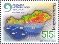 [The 150th Anniversary of the Hungarian Meteorological Service, type HWH]