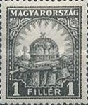 [Definitive Issues - Crown of Saint Stephen, Matthias Cathedral & Palace at Budapest, type IY]