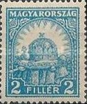 [Definitive Issues - Crown of Saint Stephen, Matthias Cathedral & Palace at Budapest, type IY1]