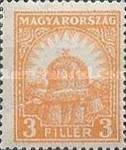 [Definitive Issues - Crown of Saint Stephen, Matthias Cathedral & Palace at Budapest, type IY2]