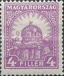 [Definitive Issues - Crown of Saint Stephen, Matthias Cathedral & Palace at Budapest, type IY3]