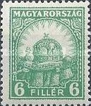 [Definitive Issues - Crown of Saint Stephen, Matthias Cathedral & Palace at Budapest, type IY4]
