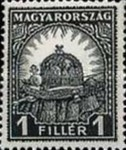 [Definitive Issue - Crown of Saint Stephen & Matthias Cathedral - Different Perforation, type IY6]
