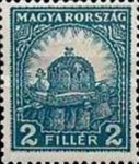 [Definitive Issue - Crown of Saint Stephen & Matthias Cathedral - Different Perforation, type IY7]