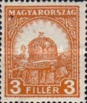 [Definitive Issue - Crown of Saint Stephen & Matthias Cathedral - Different Perforation, type IY8]