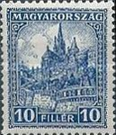 [Definitive Issues - Crown of Saint Stephen, Matthias Cathedral & Palace at Budapest, type JE]