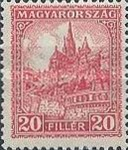 [Definitive Issues - Crown of Saint Stephen, Matthias Cathedral & Palace at Budapest, type JE2]