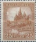 [Definitive Issues - Crown of Saint Stephen, Matthias Cathedral & Palace at Budapest, type JE3]