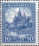 [Definitive Issue - Crown of Saint Stephen & Matthias Cathedral - Different Perforation, type JE4]