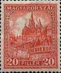 [Definitive Issue - Crown of Saint Stephen & Matthias Cathedral - Different Perforation, type JE6]