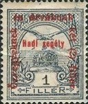 [Turul over Crown of Saint Stephen & King Franz Joseph - Stamps of 1913 Overprinted and Surcharged, type M]