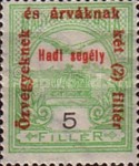 [Turul over Crown of Saint Stephen & King Franz Joseph - Stamps of 1913 Overprinted and Surcharged, type M3]