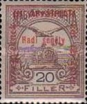 [Turul over Crown of Saint Stephen & King Franz Joseph - Stamps of 1913 Overprinted and Surcharged, type M8]