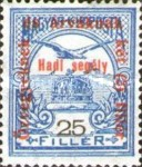 [Turul over Crown of Saint Stephen & King Franz Joseph - Stamps of 1913 Overprinted and Surcharged, type M9]