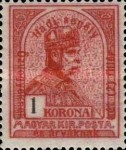 [Turul over Crown of Saint Stephen & King Franz Joseph - Stamps of 1913 Overprinted and Surcharged, type N]
