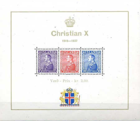 [The 25th Anniversary of the Reign of Christian X, type ]