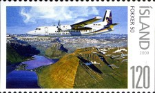 [Civil Aviation in Iceland - Imperforated on 1 or 2 Sides, Typ AKE]