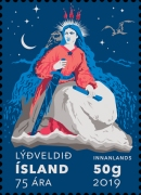 [The 75th Anniversary of the Republic of Iceland, Typ AWX]