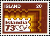 [Stamp Exhibition ISLANDIA 73, Typ IZ]