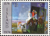 [The 1100th Anniversary of Settlement in Iceland, type JC]