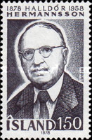 [The 100th Anniversary of the Birth of the Writer Halldòr Hermannsson, Typ LB]