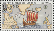 [EUROPA Stamps - Voyages of Discovery in America - The 500th Anniversary of the Arrival of Columbus to America, With White edge around Stamp, Typ TI]