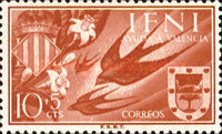 [Charity Stamps for Valencia - Barn Swallow & Coat of Arms, type AV]