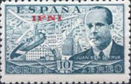 [Airmail - Not Issued Spanish Airmail Stamps Overprinted