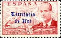 [Airmail - Spanish Postage Stamps Overprinted in Gothic Script, type M]