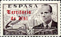 [Airmail - Spanish Postage Stamps Overprinted in Gothic Script, type M1]