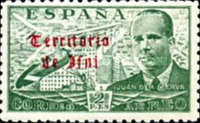 [Airmail - Spanish Postage Stamps Overprinted in Gothic Script, type M3]