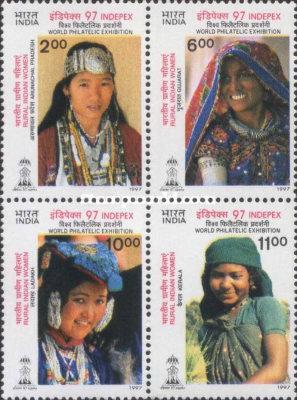 [INDEPEX '97 International Stamp Exhibition, New Delhi - Women's Costumes, Typ ]