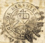 "[East Indian Company Coat of Arms - Inscription ""Scinde District Dawk"", type A1]"