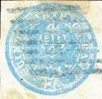 "[East Indian Company Coat of Arms - Inscription ""Scinde District Dawk"", type A2]"