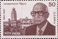 [The 90th Anniversary of the Birth of G. D. Birla (Industrialist), type AEI]