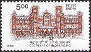 [The 200th Anniversary of Madras G.P.O, Typ AHA]