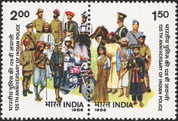 [The 125th Anniversary of Indian Police, Typ AHD]